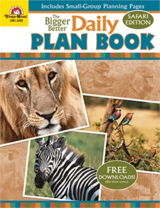 Evan-Moor Daily Plan Book Safari Edition