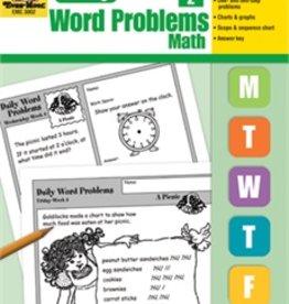 Evan-Moor Book Daily Word Problems Gr-2