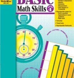 Evan-Moor Book Basic Math Skills   Gr-4