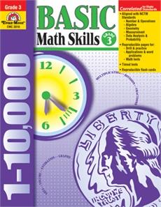 Evan-Moor Book Basic Math Skills   Gr-3