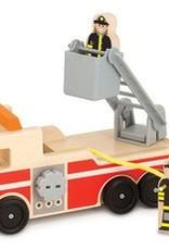 Melissa & Doug Wooden Fire Truck w/3 play figures