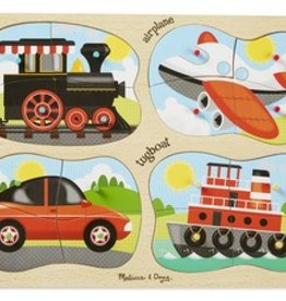 Melissa & Doug 4-in-1 Vehicles Peg Puzzle