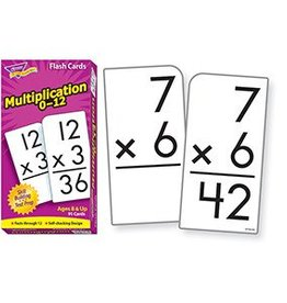 Trend Enterprises Flash Cards Multiplication 0-12