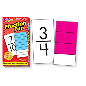Trend Enterprises Flash Cards Fractions