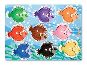 Melissa & Doug Colorful Fish Peg Puzzle