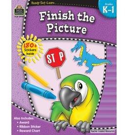 Teacher Created Resources Home Workbook Finish Pict K-1