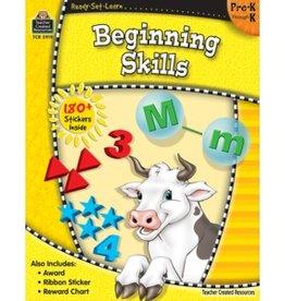 Teacher Created Resources Workbook Beginning Skills Pk-k