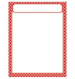 Trend Enterprises Moroccan Red Chart