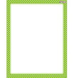 Trend Enterprises Polka Dots Lime Chart