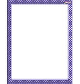Trend Enterprises Polka Dots Purple Chart
