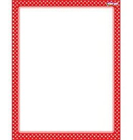 Trend Enterprises Polka Dots Red Chart