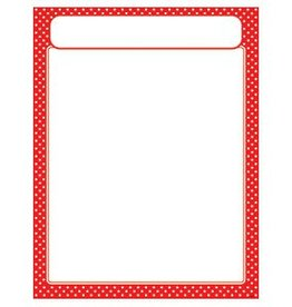 Trend Enterprises Polka Dots Red w/header Chart
