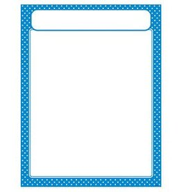 Trend Enterprises Polka Dots Blue w/header Chart