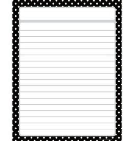 Teacher Created Resources Chart Black Polka Dots