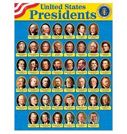 Trend Enterprises Chart 17x22 U.s. Presidents