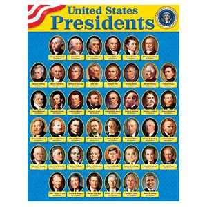 Trend Enterprises Chart 17x22 U.s. Presidents