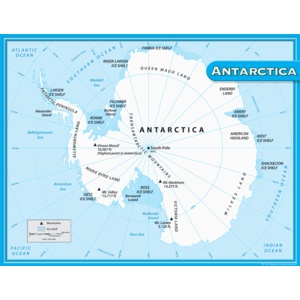 Teacher Created Resources Map of Antartica