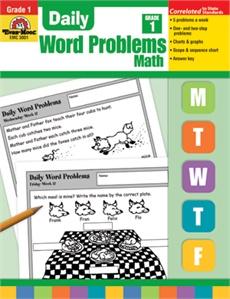 Evan-Moor Book Daily Word Problems Gr-1