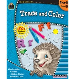 Teacher Created Resources Book Trace And Color Pk-k