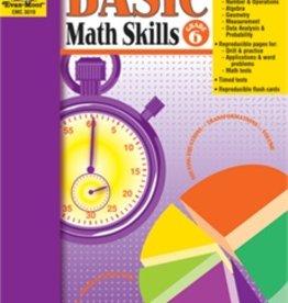 Evan-Moor Book Basic Math Skills   Gr-6