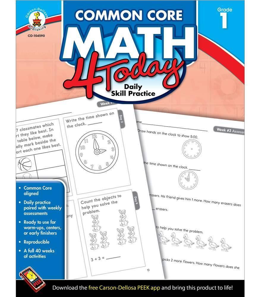 Carson Dellosa Common Core Math 4 Today Gr 1