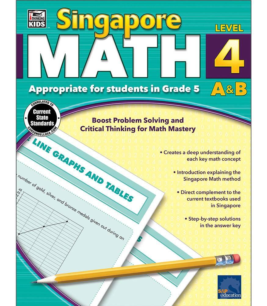 Carson Dellosa Book Singapore Math Gr-5