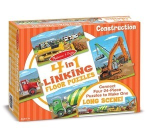 Melissa & Doug Construction 4 in 1 linking puzzle