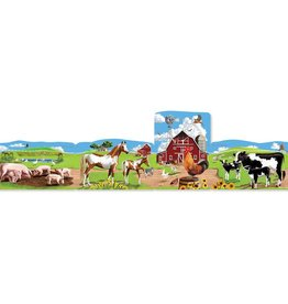 Melissa & Doug 4 in 1 Linking Floor Puzzles: Farm