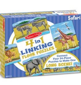 Melissa & Doug 4 in 1 Linking Floor Puzzles: Safari