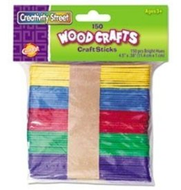 "Pacon Corporation Craft Sticks 4-1/2"" x 3/8"" -150, colored"