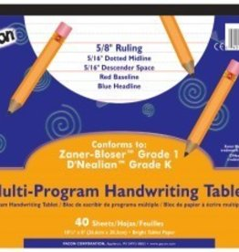 Pacon Corporation Tablet Multi Writing K&1 40sht