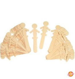 Pacon Corporation Wood Craft Sticks - Woman & Man shaped 36 pcs - 18 ea