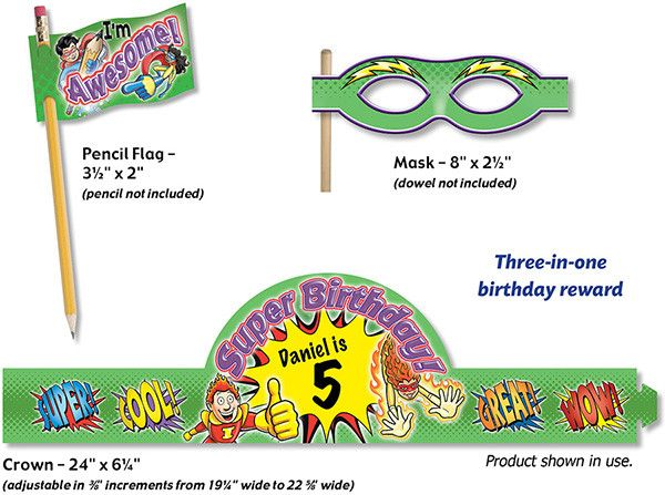 North Star Teacher Resources Crown Kit Superhero 3-in-1 Grn