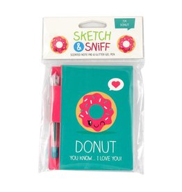 Scentco Sketch & SniffNote Pads w/gel pen Donut