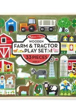 Melissa & Doug Wooden Farm and Tractor Play Set