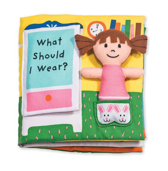 Melissa & Doug What Should I Wear? K's Kids Cloth Book