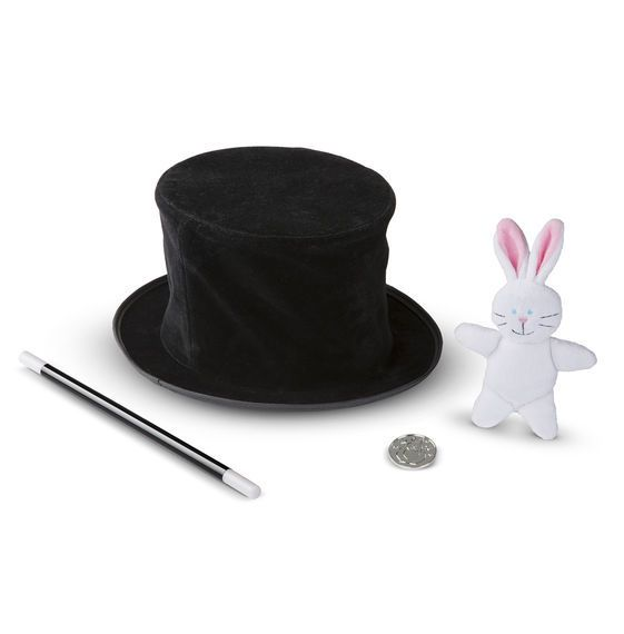 Melissa & Doug Magic in a Snap! Magician's Pop-Up Hat with Tricks