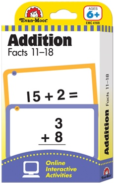 EvanMoor Addition Facts 1118 Flash Cards Teach Your Children Inc