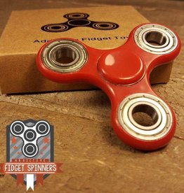Addictive Fidget Toys Fidget Spinner 10.5 Profile Red Tribar