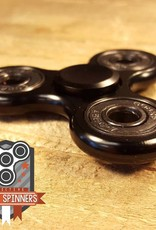 Addictive Toys Fidget Spinner Black Aluminium Tri
