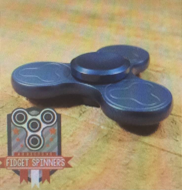 Addictive Fidget Toys Fidget SpinnerTerzetto Blue Tri Bar