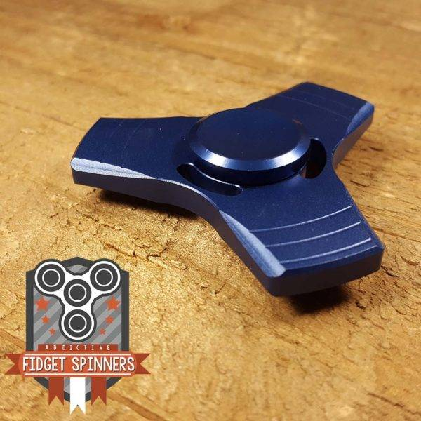 Addictive Fidget Toys Propeller Tri Blue Spinner