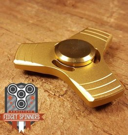 Addictive Toys Fidget Spinner Propeller Tri Gold