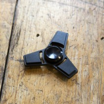 Addictive Fidget Toys Fidget Spinner Tetra 3 Bar Black