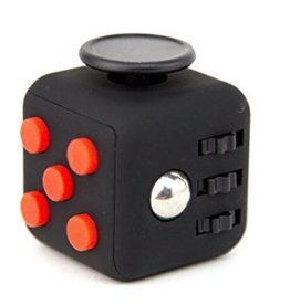 Addictive Toys Fidget Cube Black w/Red