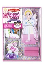 Melissa & Doug Magnetic Dress-Up Doll: Tutus & Wings