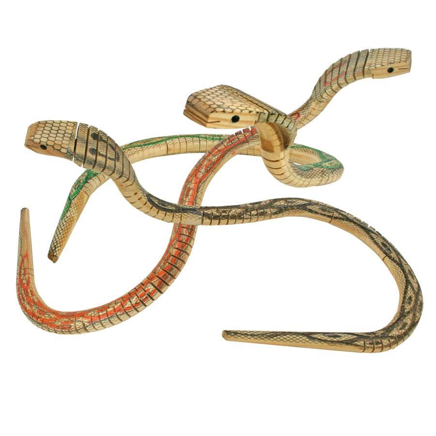 Geocentral Wooden Cobra Snake