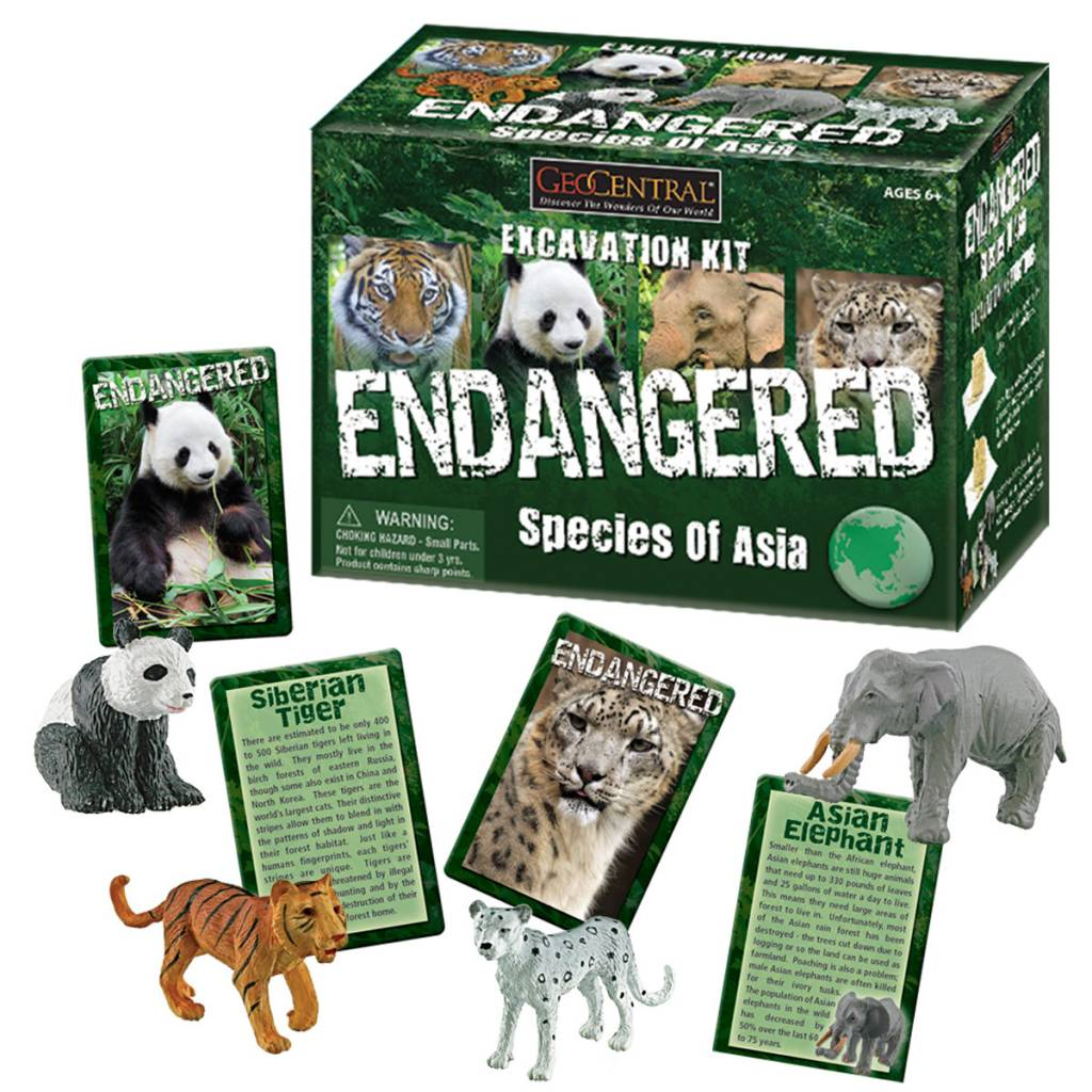 Geocentral Endagered Species of Asia Excavation Kit