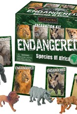 Geocentral Endagered Species of Africa Excavation Kit