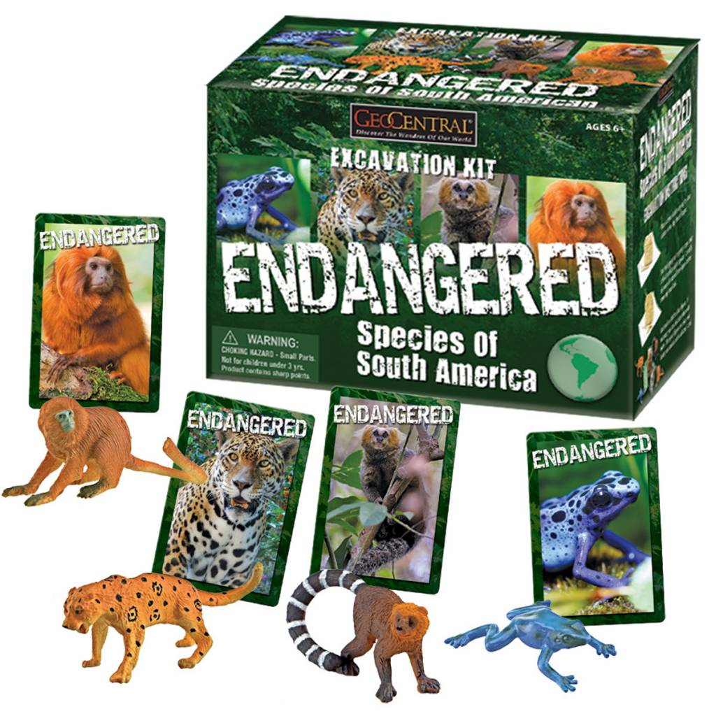 Geocentral Endagered Species of South America Excavation Kit